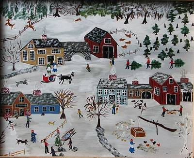 Home For The Hoildays Art Print by Lee Gray