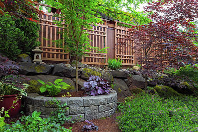 Photograph - Home Garden Backyard Landscaping by Jit Lim