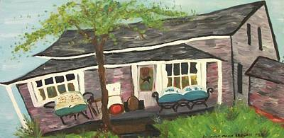 Home In Feeding Hills Mass Part 1 Art Print by Suzanne  Marie Leclair