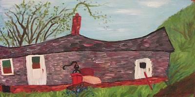 Home In Feeding Hills Part 2 Art Print by Suzanne  Marie Leclair