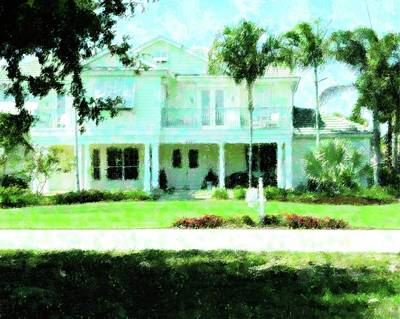 Homestead Mixed Media - Home In Ft. Myers by Florene Welebny
