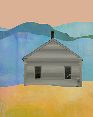 Museum Mixed Media Mixed Media - Old School House In New England by Jacquie Gouveia