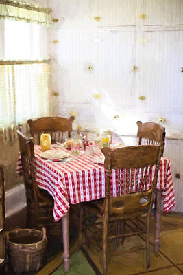 Checked Tablecloths Digital Art - Home In The 20s 2 by Jill Wellington
