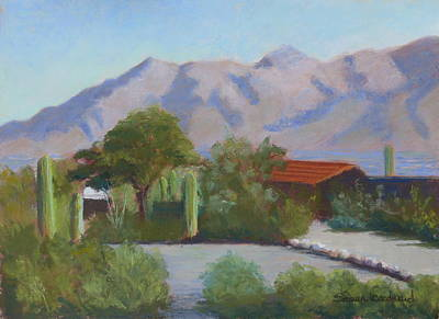 Home In The Catalinas Art Print by Susan Woodward