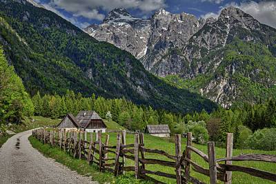 Photograph - Home In The Slovenian Alps by Stuart Litoff