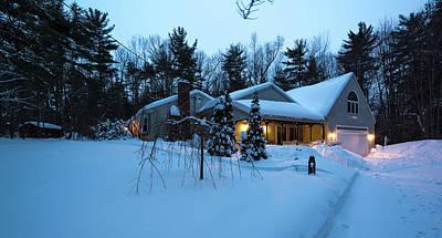 Photograph - Home In Winter by Robert McKay Jones