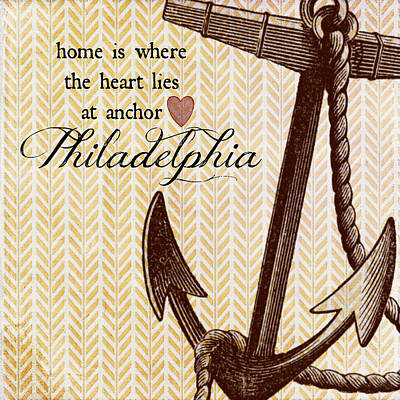 Home Is Philadelphia Anchor 1 Art Print