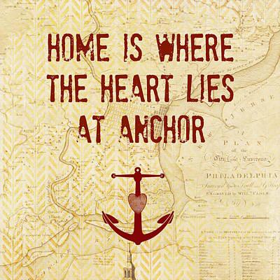 Home Is Philadelphia Anchor Art Print