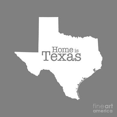 Home Is Texas Art Print by Bruce Stanfield