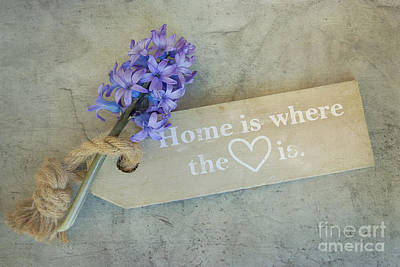 Floral Photograph - Home Is Where The Heart Is by Nikki Vig