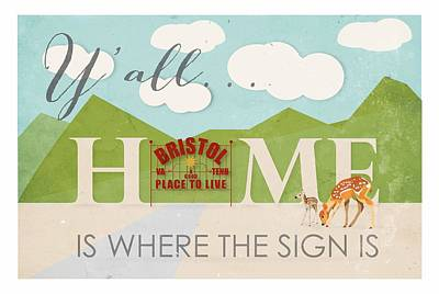 Home Is Where The Sign Is Art Print
