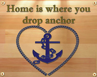 Painting - Home Is Where You Drop Anchor by Jack Pumphrey
