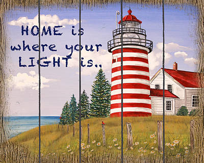 Painting - Home Lighthouse by Jean Plout