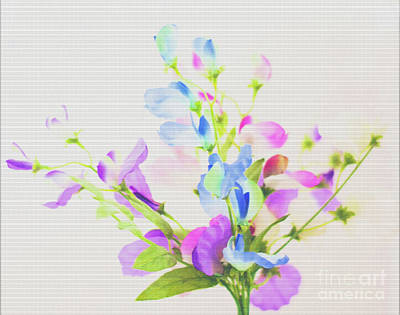 Colourfull Photograph - Home Made Flowers by David  Hollingworth