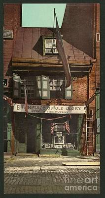Betsy Ross Painting - Home Of Betsy Ross Philadelphia by Pd