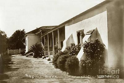 Photograph - Home Of Ramona, Camulos Rancho, California Circa 1900 by California Views Mr Pat Hathaway Archives