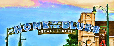 Photograph - Home Of The Blues - Beale Street by Allen Beatty