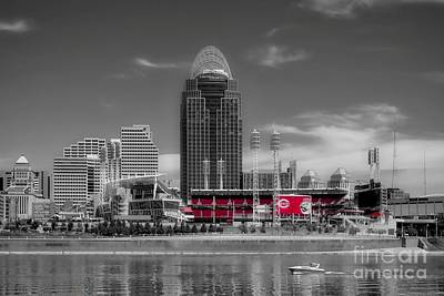 Photograph - Home Of The Cincinnati Reds by Mel Steinhauer