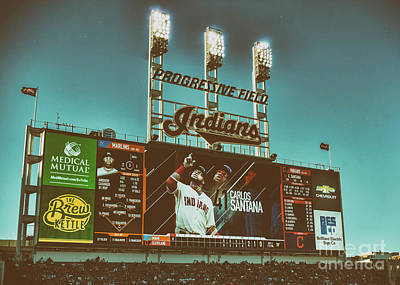 Cleveland Stadium Painting - Home Of The Cleveland Indians by Janice Rae Pariza