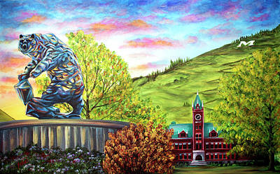 Painting - Home Of The Griz by Teshia Art