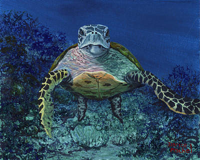 Art Print featuring the painting Home Of The Honu by Darice Machel McGuire