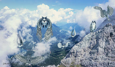Digital Art - Home Of The Meowl by Jutta Maria Pusl