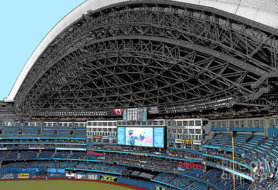 Photograph - Home Of The Toronto Blue Jays_ Roger's Centre by Nina Silver