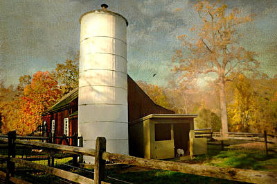 Barn And Silo Photograph - Home On The Farm by Diana Angstadt