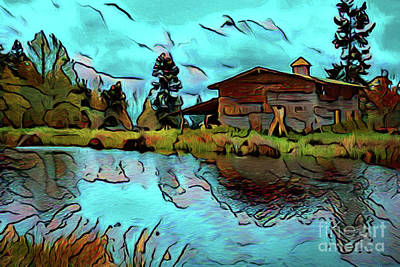 Photograph - Home On The Lake 17118 by Ray Shrewsberry