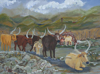 Americana Licensing Painting - Home On The Range by Gail Daley