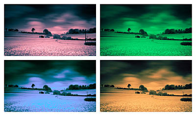 Infra-red Photograph - Home On The Range Goes Pop by Nigel Jones