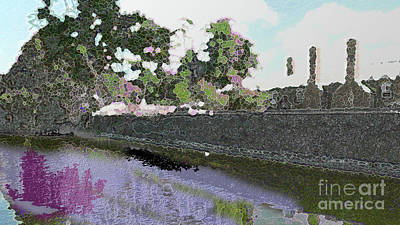 Digital Art - Home On The River Edit This Challenge by Conni Schaftenaar