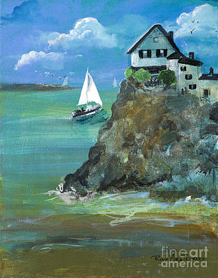 Painting - Home Overlooking The Sea by Robin Maria Pedrero