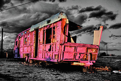 Photograph - Home Pink Home Black And White by Scott Campbell