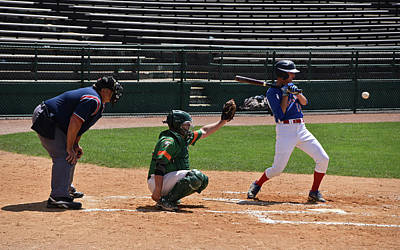 Photograph - Home Plate Anticipation by Mike Martin