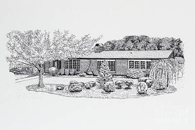 Work Place Drawing - Home Portrait 2040 by Robert Yaeger
