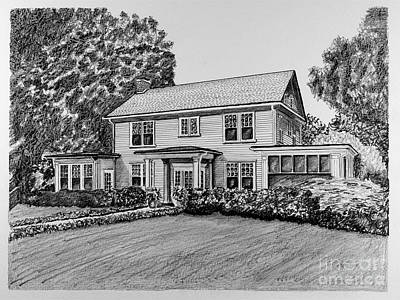 Affordable Drawing - Home Portrait 2044 by Robert Yaeger