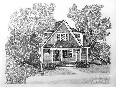 Affordable Drawing - Home Portrait 2050 by Robert Yaeger