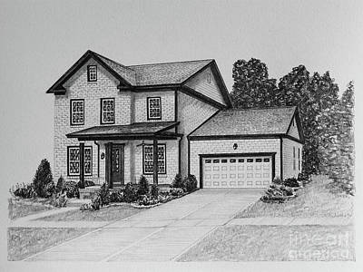 Affordable Drawing - Home Portrait 2062 by Robert Yaeger