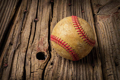 Knothole Photograph - Home Run Ball by Garry Gay