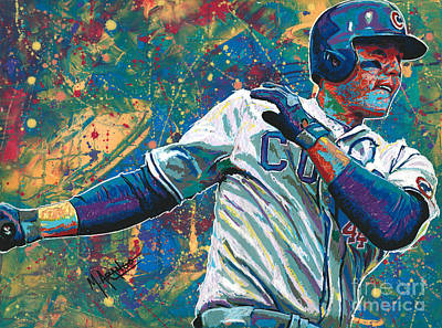 Painting - Home Run Rizzo by Maria Arango