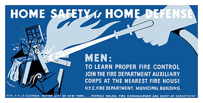 Works Progress Administration Painting - Home Safety Is Home Defense by War Is Hell Store