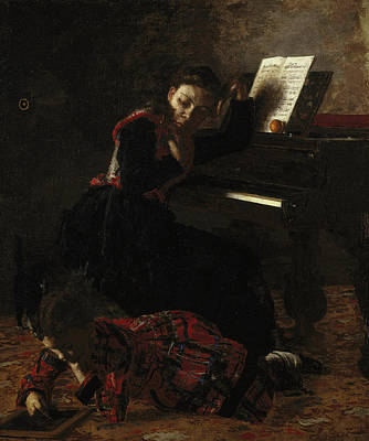 Piano Painting - Home Scene by Thomas Eakins