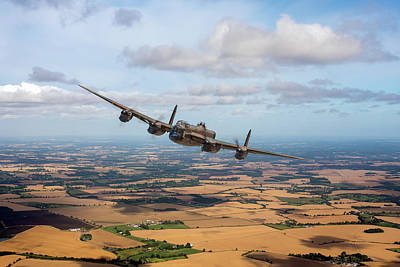 Photograph - Home Stretch Lancaster Over England  by Gary Eason
