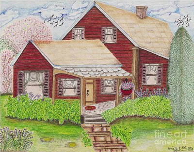 Painting - Home-sweet-home by Brigitte C Robinson