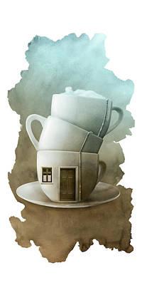 Digital Art - Home Sweet Home by Claude Peyrouse