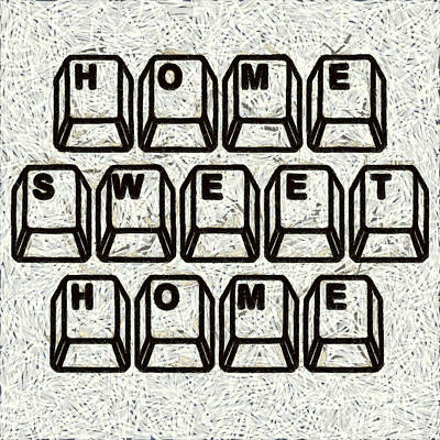 Home-sweet-home Photograph - Home Sweet Home Computer Keys by Edward Fielding