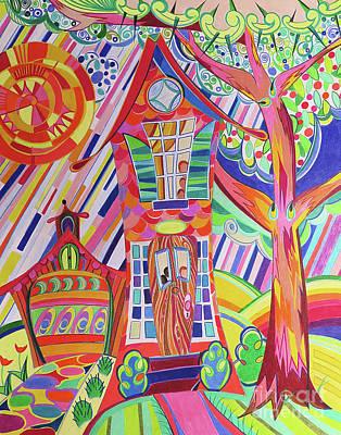 Gay Fantasy Drawing - Home Sweet Home by David Roper