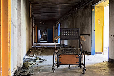 Retirement Home Photograph - Home Sweet Home Forgotten Wheelchair Abandoned Nursing Home  by Dirk Ercken