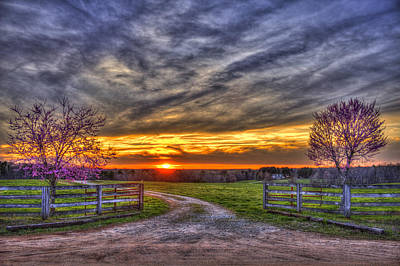 Photograph - Home Sweet Home Lick Skillet Road Sunset by Reid Callaway